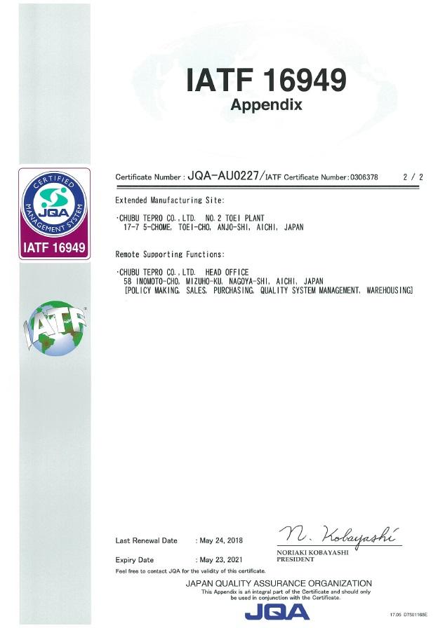 IATF16949 Appendix