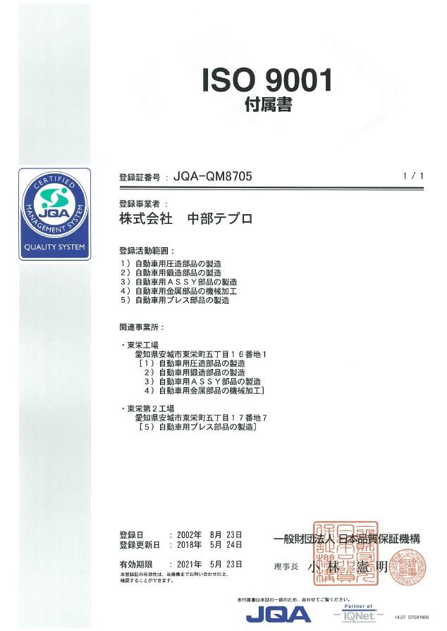 ISO9001 付属書