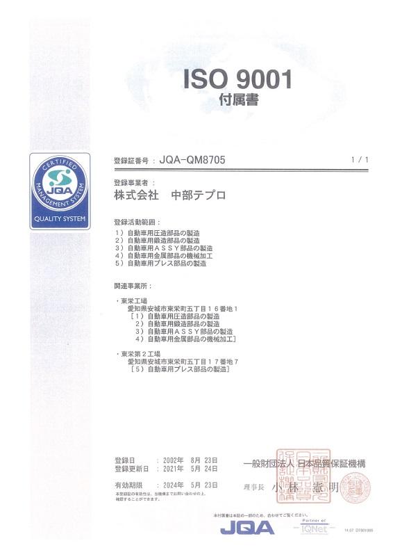 ISO9001 付属書 210524